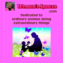 Logo for Women's Spaces , dedicated to ordinary women doing extraordinary things. www.womensspaces.com